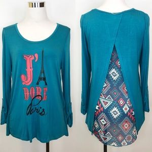 Self Esteem L High Low Top Blouse J Adore Paris